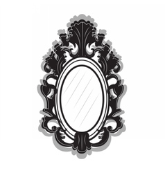 Vintage imperial baroque frame vector