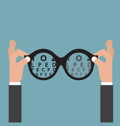 Vision of eyesight eye care concept vector