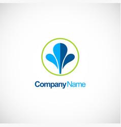 water splash business logo vector image