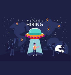 We are hiring vector