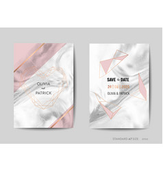 Wedding invitation cards save the date rsvp vector