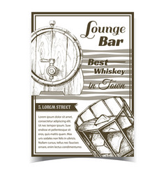 Whiskey lounge bar best in town poster vector