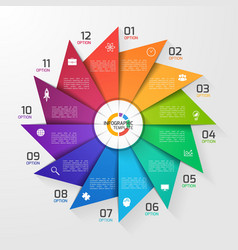 windmill style infographic template 12 options vector image