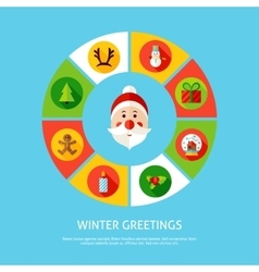 Winter Greetings Infographic Concept vector image
