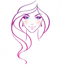 Women beauty hair vector