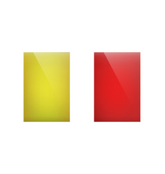 yellow and red cards vector image