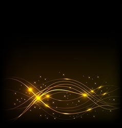 Background with Overlaying wavy lines vector image