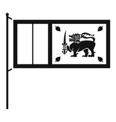 Flag of Sri Lanka icon simple style vector image