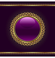 golden ornamental medallion vector image vector image