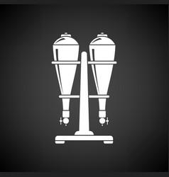 Soda siphon equipment icon vector