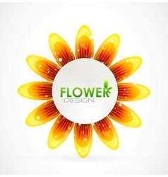 sun flower background vector image