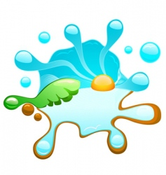 tropical splash vector image vector image