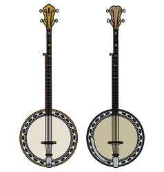 two classic banjo vector image vector image