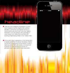 business brochure smartphone booklet templateplate vector image vector image