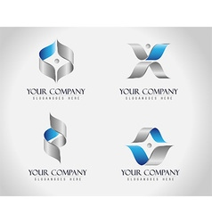 Corporate Business Logo vector image vector image