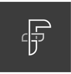 Letter F and abstraction of the flat vector image vector image