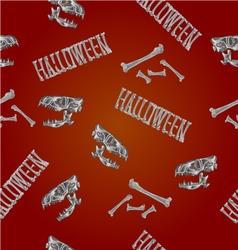 Seamless texture Halloween inscription vector image