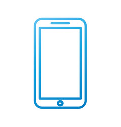 smartphone device technology call social media vector image