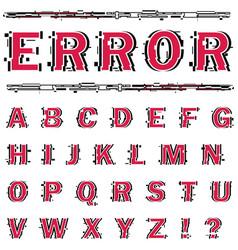 Alphabet on white background vector