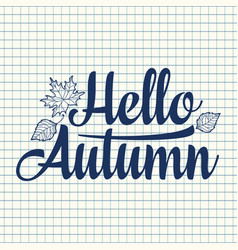 hello autumn text retail message best for sale vector image