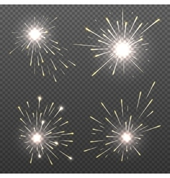 Magic spark effects burning bengal lights vector image vector image
