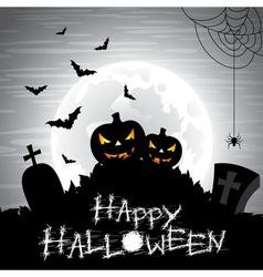 on a Halloween theme on a moon vector image