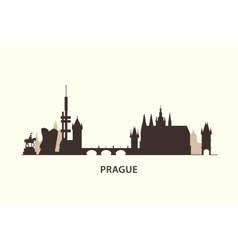 Prague skyline silhouette vector image vector image