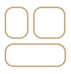 round marine ropes frame vector image