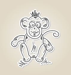 ape sketch vector image