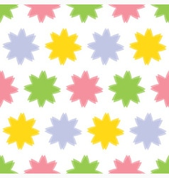 background seamless - colored flowers vector image vector image