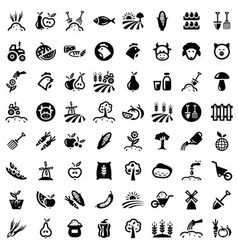 big agriculture icons set vector image
