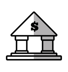 building bank money finance shadow vector image
