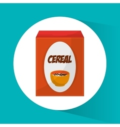 Cereal and breakfast design vector