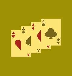 flat icon on background poker playing card vector image