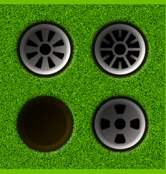 Golf hole vector image