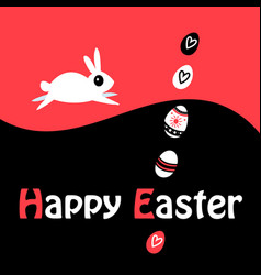 greeting easter greeting card with eggs and vector image