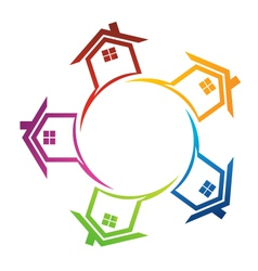Group of Real estate houses vector image vector image