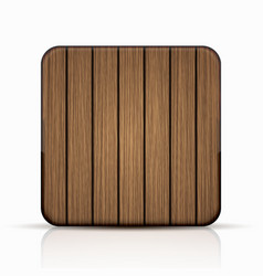modern wooden icon on white vector image vector image