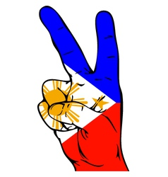 Peace Sign of the Philippine flag vector image vector image