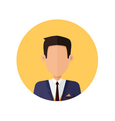 stylish young man avatar or userpic in flat design vector image