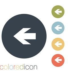 web arrow vector image vector image