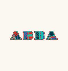 Abba concept word art vector
