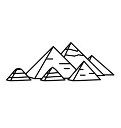 ancient egyptian pyramids vector image