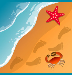 At the beach theme summer vacation vector
