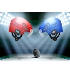 Background night ice hockey stadium vector image