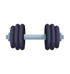 barbell for bodybuilding sports equipment vector image