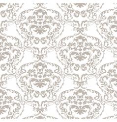 Baroque damask delicate ornament pattern vector