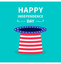 Big hat with stars and strip independence day vector image