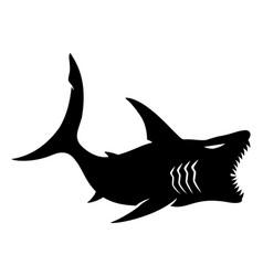 Black shark sign vector