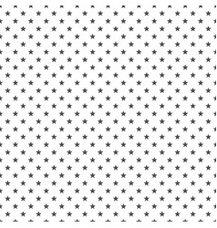 black star seamless background vector image